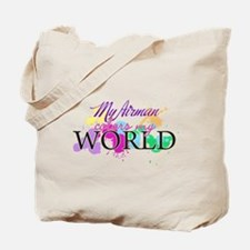 My Airman Colors My World Tote Bag