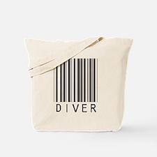 Diver Barcode Tote Bag