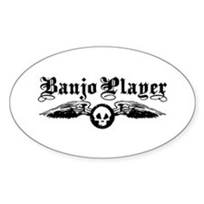 Banjo Player Oval Decal