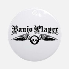 Banjo Player Ornament (Round)