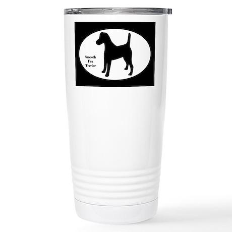 Fox Terrier Silhouette Stainless Steel Travel Mug