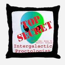 Intergalactic Proctologist Throw Pillow