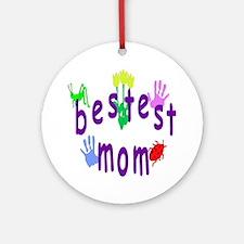 Bestest Mom Ornament (Round)
