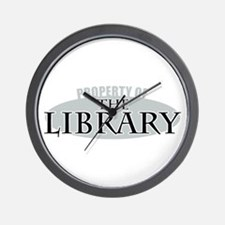 Property of The Library Wall Clock