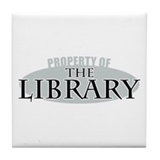 Property of The Library Tile Coaster
