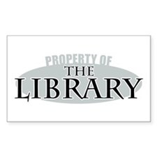 Property of The Library Rectangle Decal