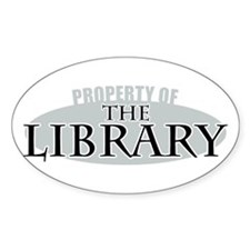 Property of The Library Oval Decal