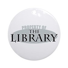 Property of The Library Ornament (Round)