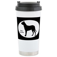 Dogo Argentino Silhouette Travel Mug