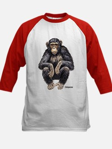 Chimpanzee Monkey Ape (Front) Kids Baseball Jerse