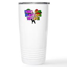 Hippie Bedlington Terrier Travel Mug