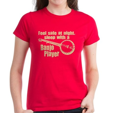 Feel Safe with a Banjo Player Women's Dark T-Shirt