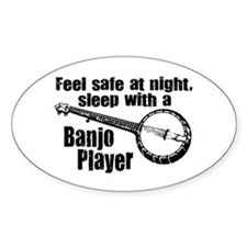 Feel Safe with a Banjo Player Oval Decal