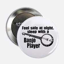 """Feel Safe with a Banjo Player 2.25"""" Button"""