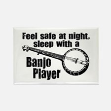 Feel Safe with a Banjo Player Rectangle Magnet