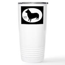 Swedish Vallhund Silhouette Travel Mug