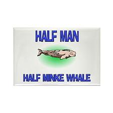 Half Man Half Minke Whale Rectangle Magnet