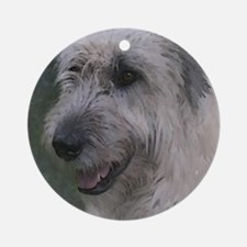 Gentle Irish Wolfhound Ornament (Round)
