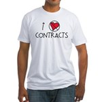 I Luv Contracts Fitted T-Shirt