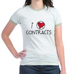 I Luv Contracts Jr. Ringer T-Shirt