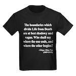Edgar Allan Poe 16 Kids Dark T-Shirt