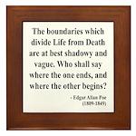 Edgar Allan Poe 16 Framed Tile