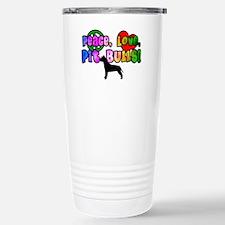 Hippie Pit Bull Travel Mug