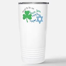 Proud Irish Jew Stainless Steel Travel Mug