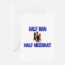 Half Man Half Meerkat Greeting Cards (Pk of 10)
