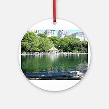 Central Park Sailboat Pond Ornament (Round)