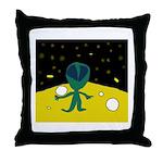 Piper's Alien Throw Pillow