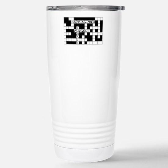 Crossword Puzzle Junkie Stainless Steel Travel Mug