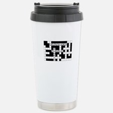 Crossword Puzzle Junkie Travel Mug