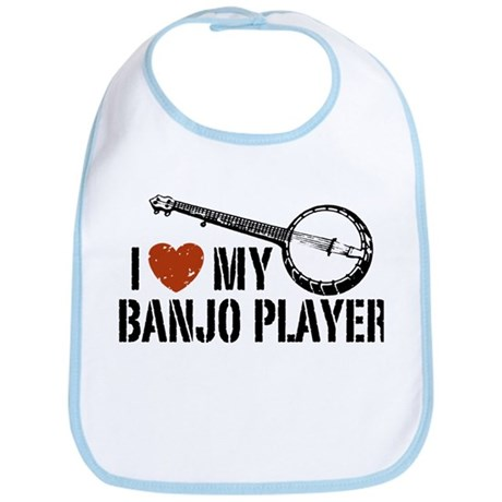 I Love My Banjo Player Bib