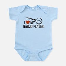 I Love My Banjo Player Infant Bodysuit