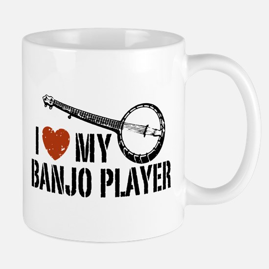 I Love My Banjo Player Mug