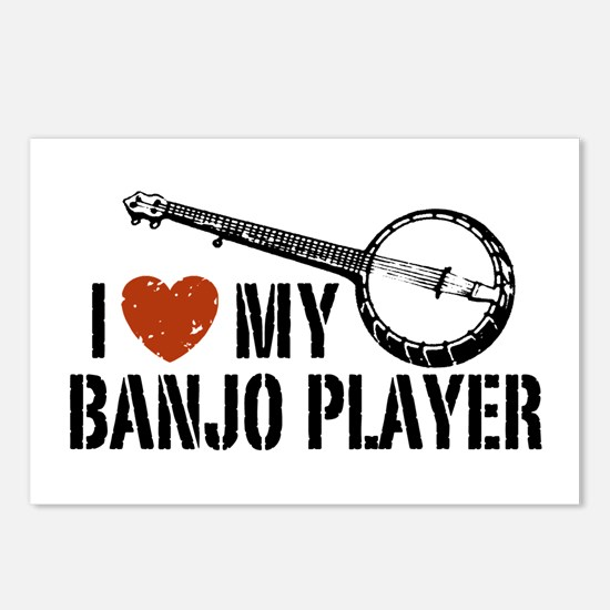 I Love My Banjo Player Postcards (Package of 8)