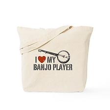 I Love My Banjo Player Tote Bag