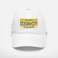 Ocean City NJ License Tag Baseball Baseball Cap