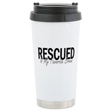Rescued is My Favorite Breed Thermos Mug