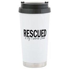 Rescued is My Favorite Breed Travel Mug