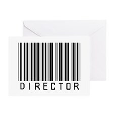 Director Barcode Greeting Cards (Pk of 20)