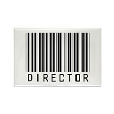 Director Barcode Rectangle Magnet