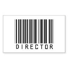 Director Barcode Rectangle Decal
