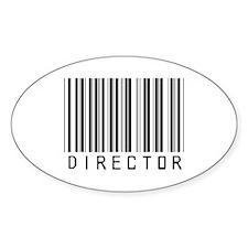 Director Barcode Oval Sticker (10 pk)