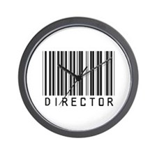 Director Barcode Wall Clock