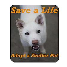 Save a Life, Adopt a Shelter Mousepad
