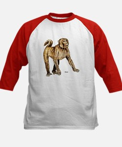 Macaque Monkey (Front) Kids Baseball Jersey