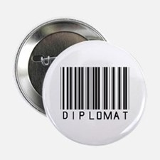 "Diplomat Barcode 2.25"" Button (10 pack)"