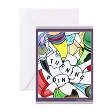 Turning Point Mural Greeting Card